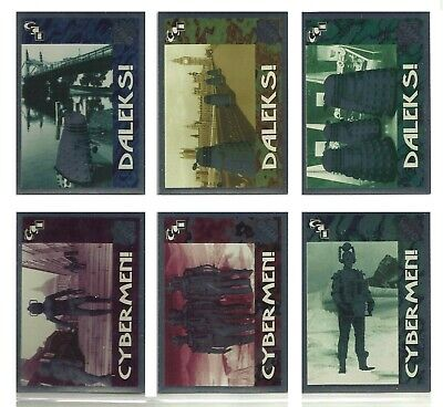 Doctor Who (Series Two) Complete 6 Foil Villain Set Cornerstone 95 (1:12 packs )