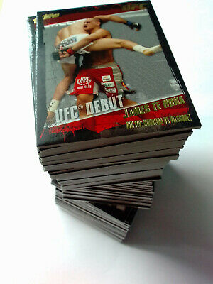 2010 Topps UFC 89 Thick Gold Parallel Chase Card Lot NO Doubles Nice Condition!