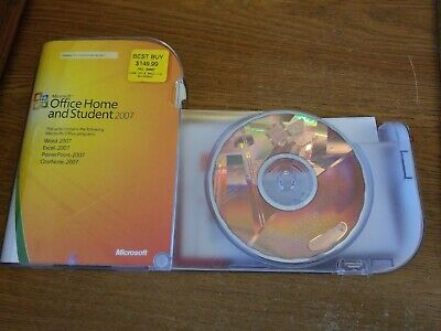 Microsoft Office 2007 Home and Student Disc and Product Key