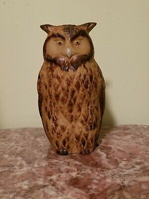 Vintage Stoneware Owl Figurine Made In Japan