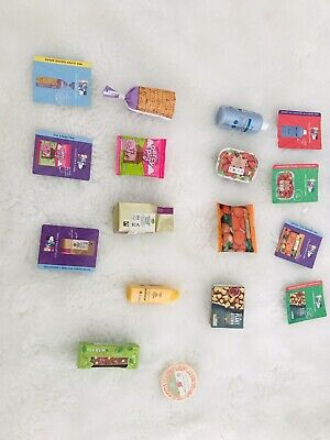 M&S Food Little Shop Mini Collectables 12 Item Coffee Percy Pig Honey Orange Etc