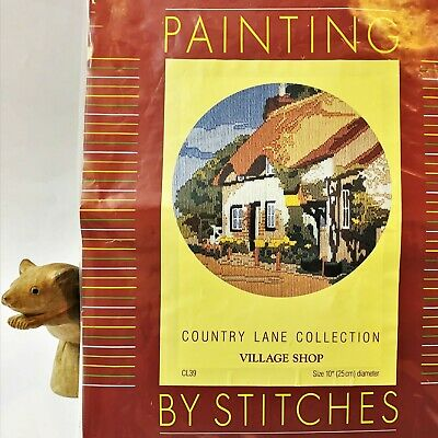 CNA England, Tapestry Longstitch Kit,  Village Shop Country Lane Collection 29cm