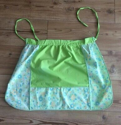 Vintage/ Retro Cotton Waist Apron Bright Green And Floral