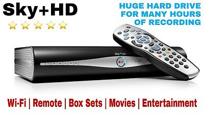 🌐 Sky Box PLUS + HD BOX WIFI | 500GB Hard Drive | Movies | On Demand | RECORD