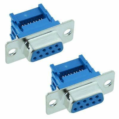 2 x 9-Way IDC Female D Socket Connector