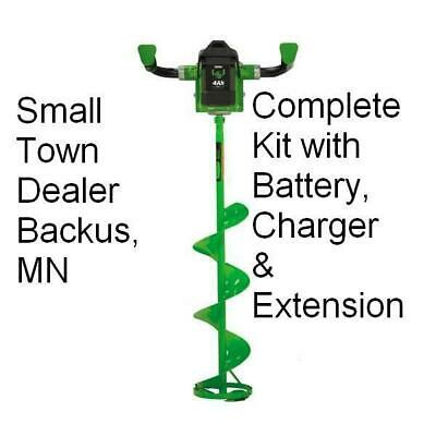 """ION 33405 40 Volt ICE AUGER CORDLESS ELECTRIC LITHIUM 8"""" IN WITH REVERSE NEW"""