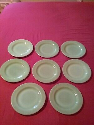"Lot Of  8 Jadite Fireking Restaurant Ware 6 3/4"" bread and butter Plate"