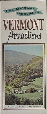 Vintage Travel Brochure A Vacation Map and Guide to Vermont Attractions