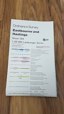 Ordnance Survey Map ~ Eastbourne and Hastings ~ Sheet 199 ~ 1987