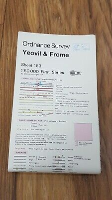 Ordnance Survey Map ~ Yeovil & Frome ~ Sheet 183 ~ 1:50 000 First Series 1974