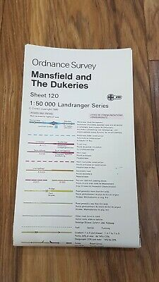 Ordnance Survey Map ~ Mansfield and The Dukeries ~ Sheet 120 ~ 1980