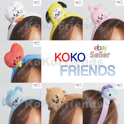PreOrder BTS BT21 Official Baby Plush Hair Band HeadBand Authentic KPOP Item MD