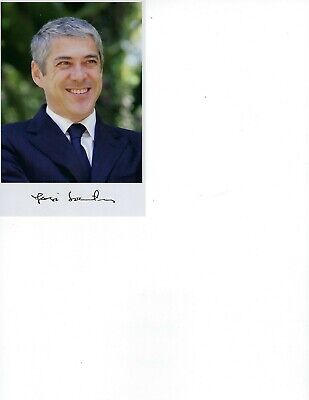 "Prime Minister Portugal Jose Socrates signed color photo 4"" x 6"" COA"