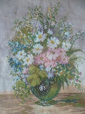 UNWORKED Tapestry Needlepoint Canvas, BREMER GOBELIN   BOUQUET  51 cm x 54 cm