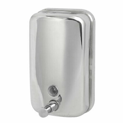 Stainless Steel 1000ML Wall-Mount Bathroom Liquid Soap Dispenser Silver Tone