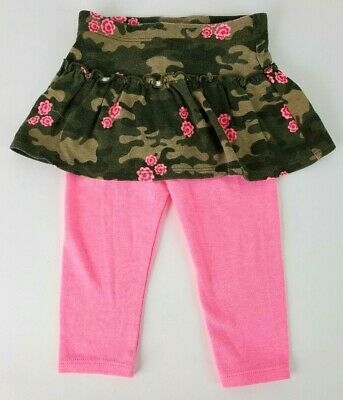 Garanimals Cammo Skirt With Built In Pink Leggings Size 12M Camouflage GUC