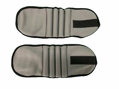 1kg Pair of Adjustable Grey Ankle and Wrist Weight