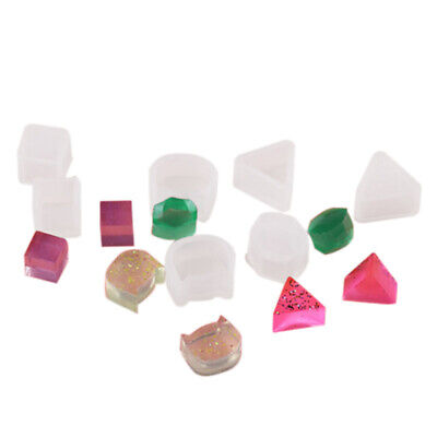 8Pcs Assorted DIY Earrings Silicone Mold Jewelry Pendant Bracelet Resin Cas