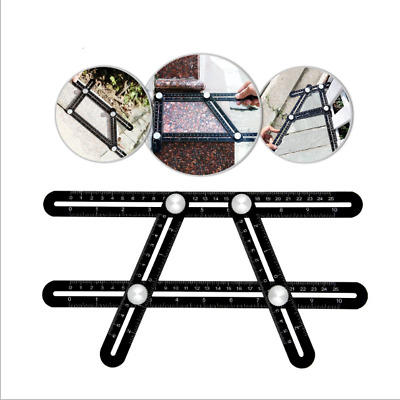 Aluminum Alloy Measuring Tools Multi-angle Template Upgraded Four-sided Ruler