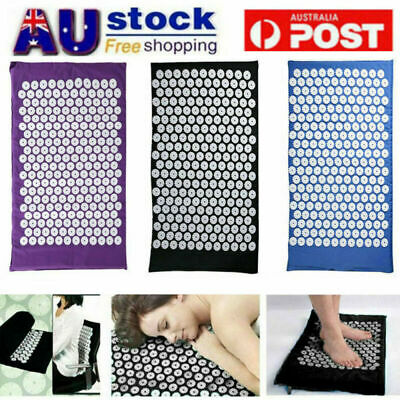 Massage Acupressure Mat Yoga Mats Relieve Pain Stress Acupuncture Spike 67x42cm