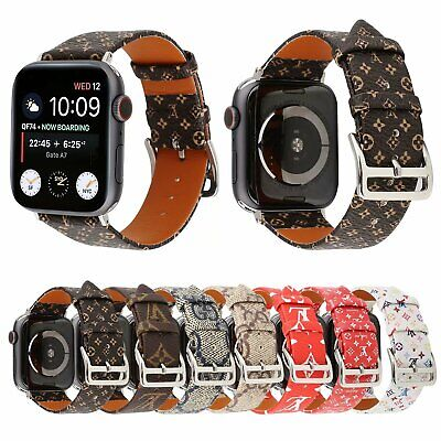 Luxury Bracelet Grid Plaid Strap Leather Watch Band for iWatch Series 5 4 3 2 1