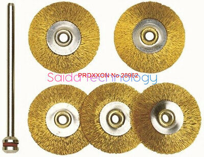 5PC PROXXON  No 28962 brass wire wheel brush # 22mm 5pcs