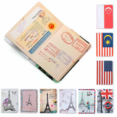 Passport Cover Card ID Holder Travel PVC Document Passport Package Eiffel Tower