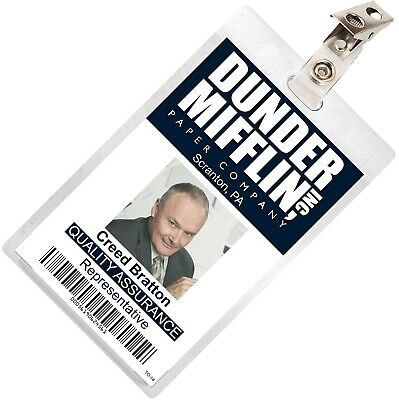 The Office Creed Bratton Mifflin ID Badge Cosplay Costume Name Tag TO-14