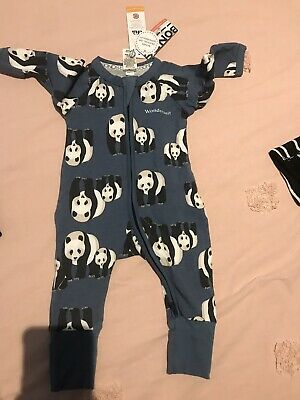 NEW BONDS BABY Wondersuit  PANDA PARADE Space X - Size 000 (3-6 Months)