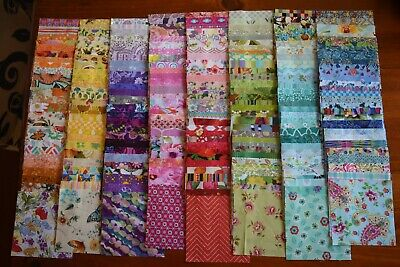 """224 x 5""""  charm square pack all different patchwork and quilting fabric"""