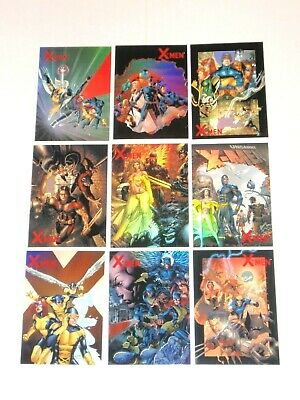 2009 Marvel X-Men Archives Ready For Action Cover Gallery 9 Insert Card Set!