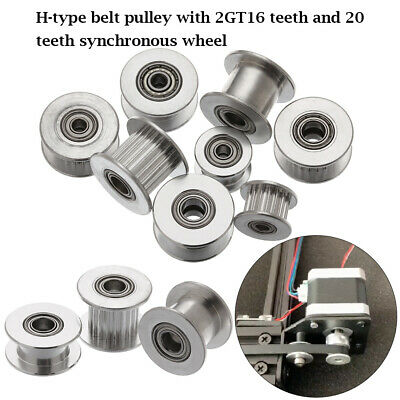 GT2 Timing Belt Pulley Synchronous Aluminum Gear 16/20 Tooth  For Width 6mm 10mm