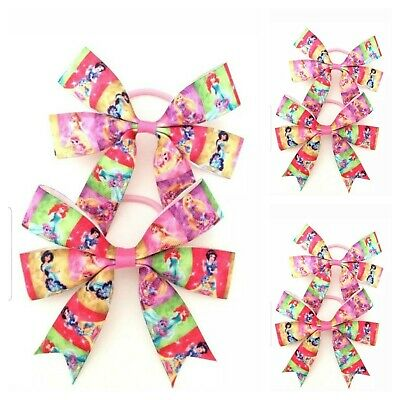 Handmade Girls Princess Hair Bows Bobbles sold in Pairs  ( SALE )