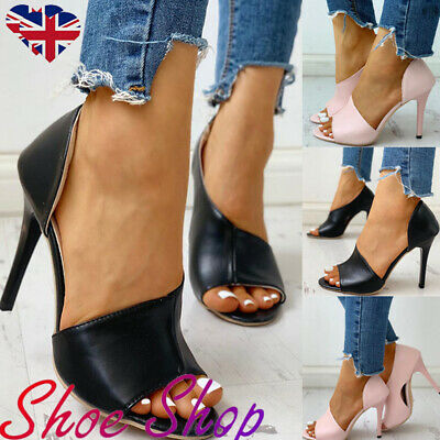 Women Stiletto High Heels Sandals Ladies Evening Party Dress Peep Toe Shoes Size
