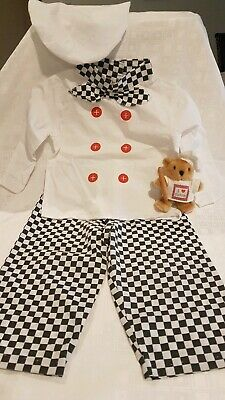 3 Piece Kids Chef Costume/Outfit with additional Chef Soft Toy Gift