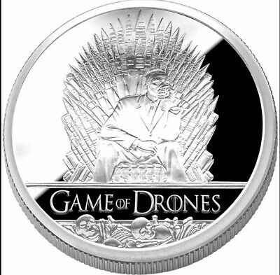 1 Oz Silver Coin *Game Of Drones* Second Arrow Silver Obama Coin.   *Rare*