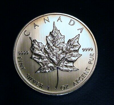 1 OZ SILVER COIN 9999  - 25th ANNIVERSARY MINTAGE of the MAPLE