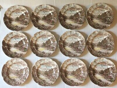 Set of 12 Johnson Brothers Olde English Countryside Plates 6.25""