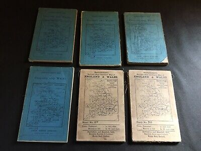 Vintage Bartholomew's Reduced Ordnance Survey Map Of England & Wales X 6