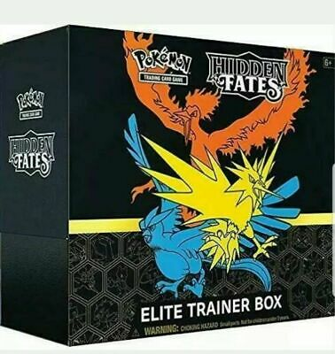 Pokemon Hidden Fates Elite Trainer Box Sealed English 10 Booster Pack SHIPS FAST