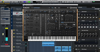 Steinberg CUBASE LE 10  and Retrologue 2  VST DAW License and installer