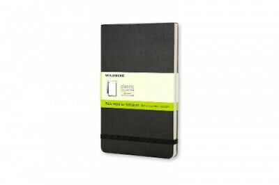 Moleskine Reporter Notebook, Pocket, Plain, Black, Hard Cover (3.5 X 5.5).
