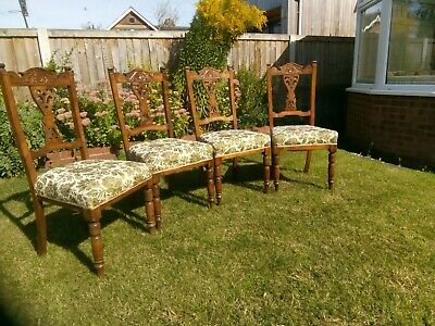 Set of 4 x Edwardian Dining Chairs
