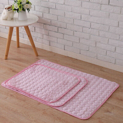 3 Sizes Soft Dog Cooling Mat Pet Gel Cat Puppy Summer Cool Bed Pad Cushion Pink