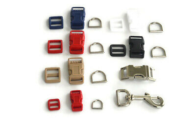 Lot Of Dog Collar Supplies - Side Buckles, D-Rings