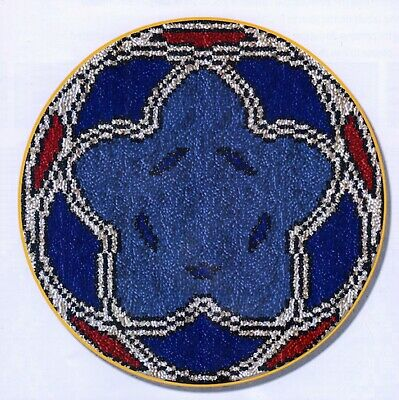 BLUE STAR SPIROGRAPH LATCH HOOK RUG KIT, NEW DESIGN and UK Seller