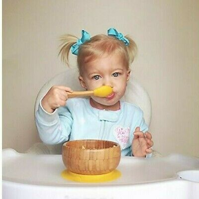 Chickpea Baby - Eco-Friendly Natural Bamboo Sticky Suction Bowl - Yellow