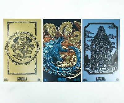 Loot Crate Godzilla King of the Monsters Prints Poster Set of 3, Rhodan, Ghidora
