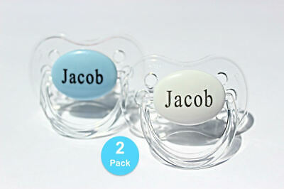 Personalised Dummy 2 Pack *Cherry & Avent Style* Soother, Dummy, 0-6 & 6-18 M