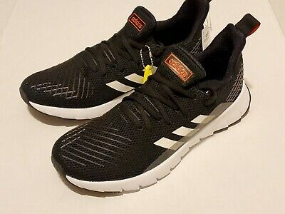 "Adidas ""Asweego"" Black/White/Solar Red Knit Running/Athletic Shoes Men's Sizes"